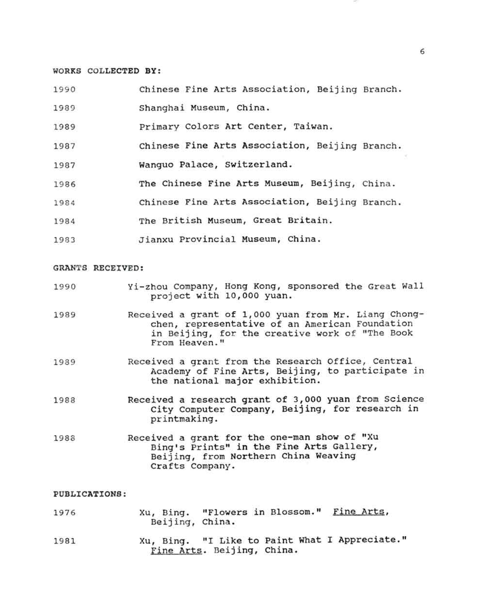 Bing Xu's Resume, pg 6